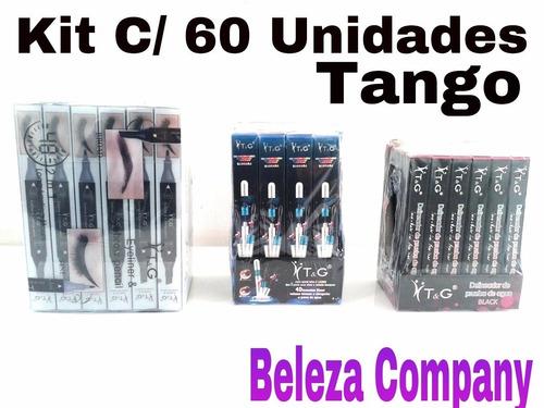 kit rímel tango caixa + henna egípcia caixa caneta delinear