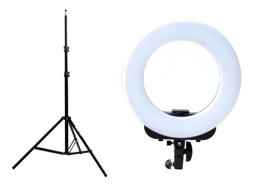 kit ring led iluminador aro luz ø36cm+ tripode 190cm phottix