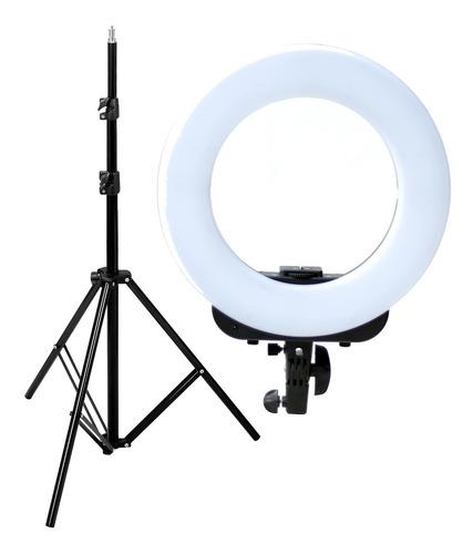 kit ring led iluminador aro luz ø36cm + tripode columna de iluminacion 190cm