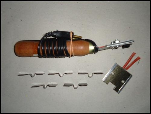 kit riscador/frisador de pneus e borracha voltagem 110v