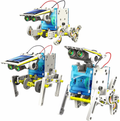 kit robot con panel solar 14 en 1 educativo