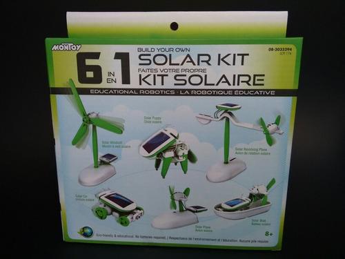 kit robótica educativo 6 en 1 con energía solar / robot