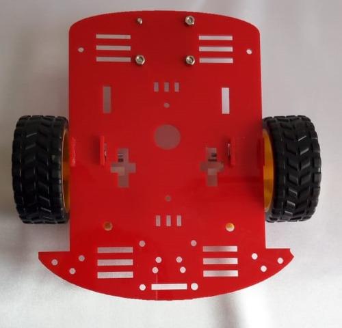 kit robótica seguidor de línea arduino chasis