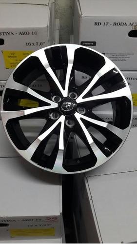 kit roda corolla 2018 aro16 toyota xrs xei altis+porca+bico