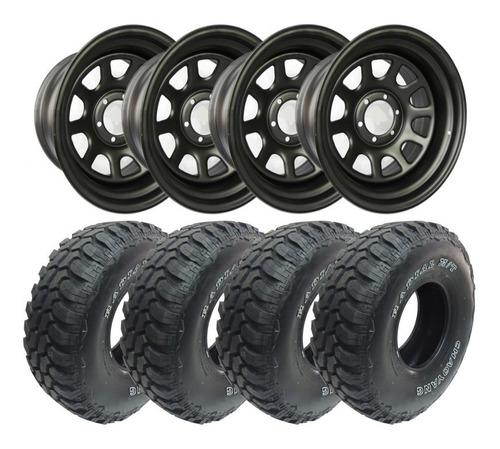 kit rodas aro 17 e pneus 35 pol. - novo troller (original) /