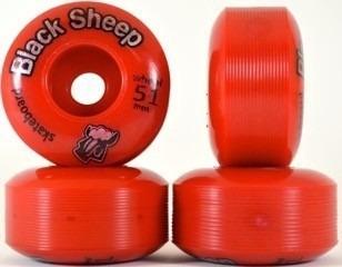 kit rodinha roda skate 51mm vermelha + abec 15 + espaçadores
