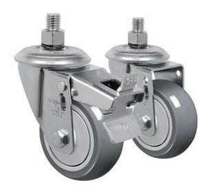 kit rodizio c/ 4 rodas de termoplástico pvc