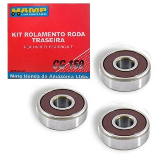 kit rolamento roda traseira cg 150 04/15 h0619-krm-900 hamp