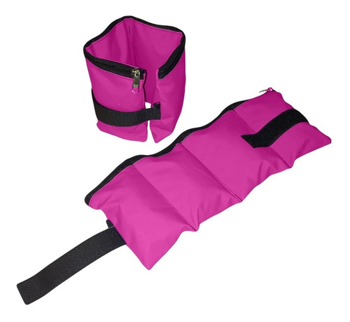 kit rosa colchoneta tobilleras mancuernas 1 kg combo pesas