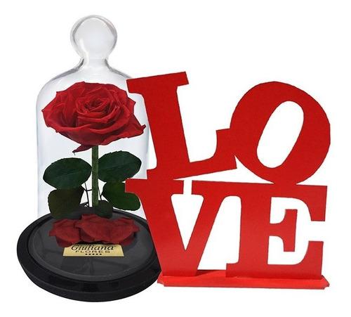 kit rosa encantada p e placa love giuliana flores