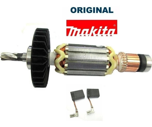 kit rotor 110v + escovas + estator martelete hr2470 original