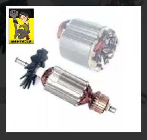 kit rotor+ estator + escova para serra marmore makita 4100nh