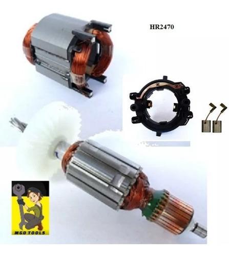 kit rotor + estator + porta escovas + escovas hr2470