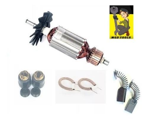 kit rotor + molas + porta escovas + escovas makita 4100nh