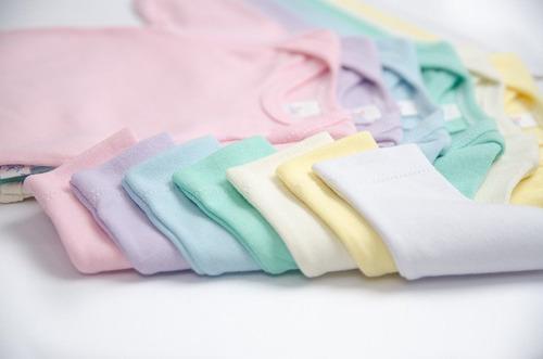 kit roupa de bebe 12 peças body manga longa e mijão suedine