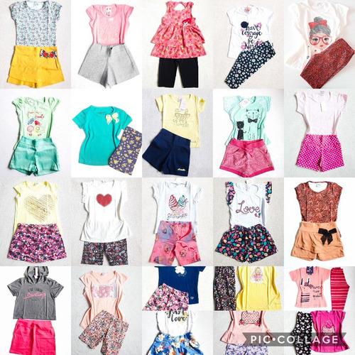 kit roupa infantil menina 10 conjuntos atacado 123468101214