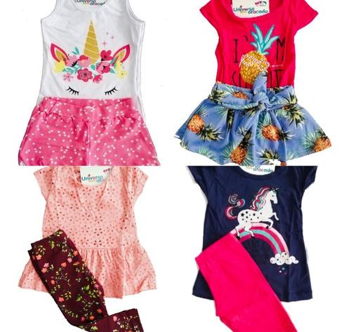 kit roupa infantil menina 10 conjuntos atacado 1234681012e14