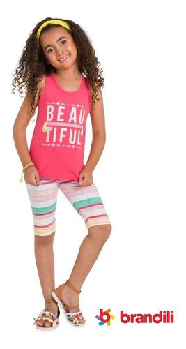 kit roupa infantil menina - 6 peças - tam 4, 6, 8, 10