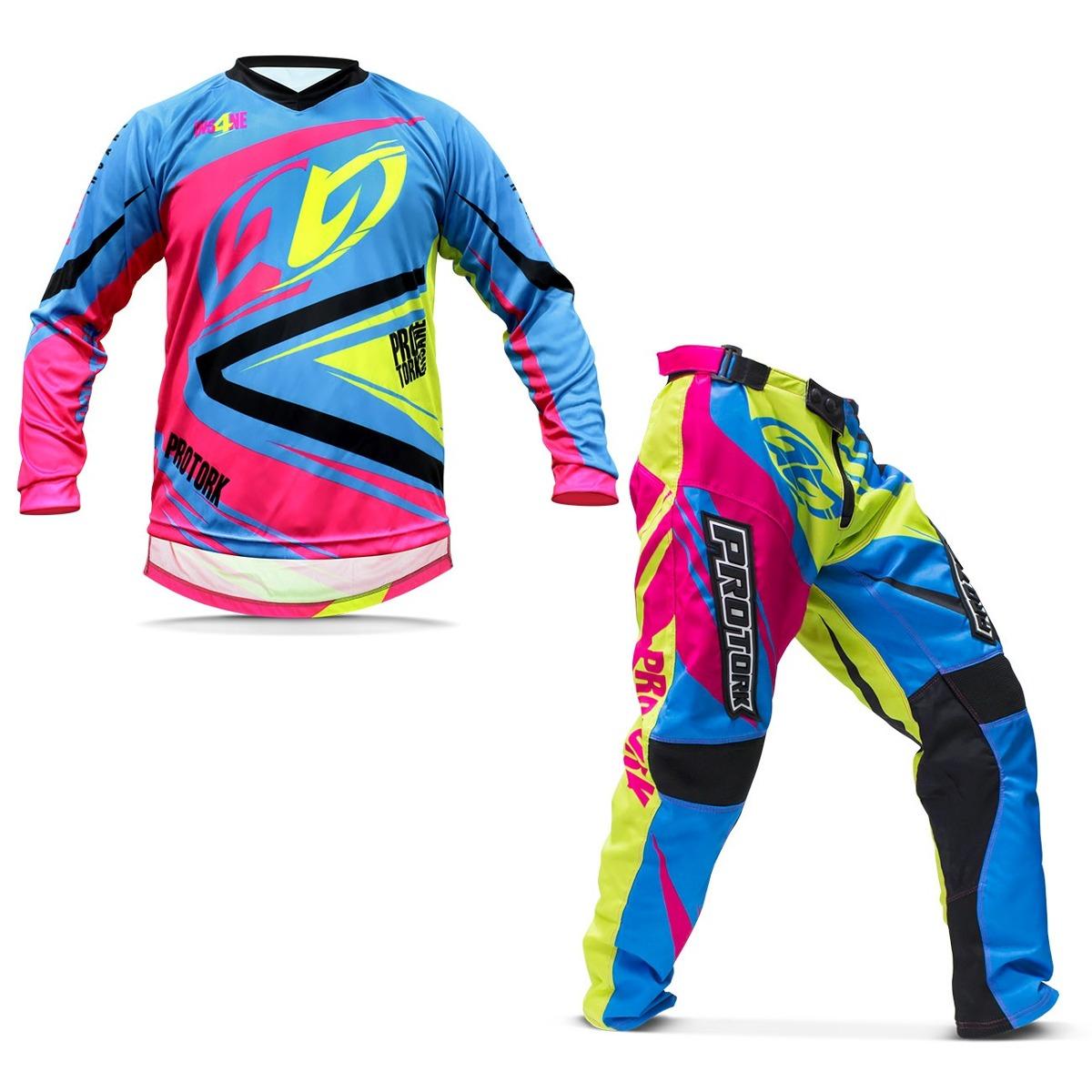 fd777c64f kit roupa motocross pro tork insane 4 calça camisa g trilha. Carregando  zoom.