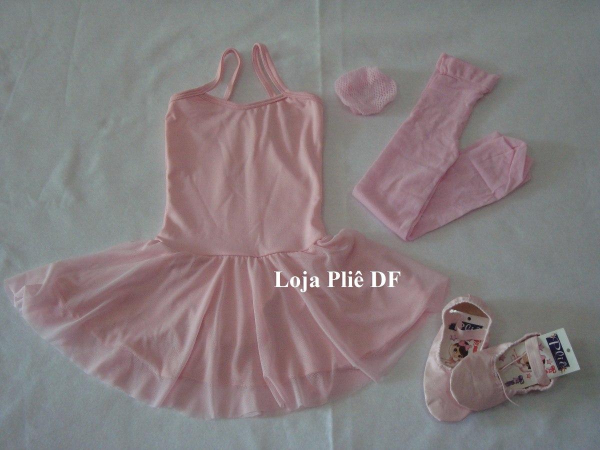ab46ef8b9 kit roupa para aulas de bale ballet infantil. Carregando zoom.