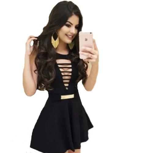 kit roupa revenda 7 peças preto branco vestido alça cinto