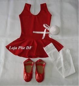 aacdf717d77560 Kit Roupa Uniforme Figurino Ballet