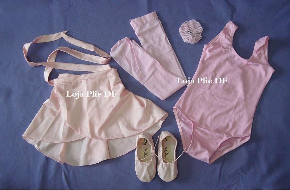 37d769568c Kit Roupa Uniforme Figurino Ballet Aulas 8