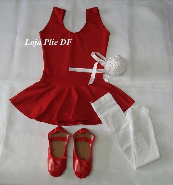 93556f374c Kit Roupa Uniforme Figurino Ballet Com A Meia Conversivel - R  113 ...