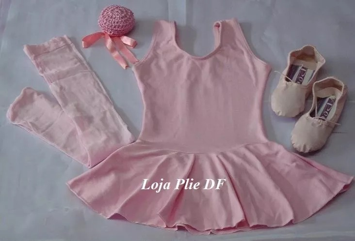 8f2d645fe7 Kit Roupa Uniforme Figurino Ballet Jazz Aulas Infantil Df - R  98