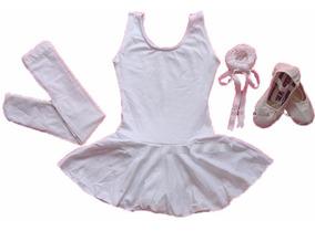 861ae52c2a3412 Kit Roupa Uniforme Figurino Ballet Para Aulas Infantil No Df