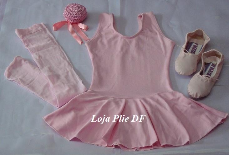 1ce95f1e17 Kit Roupa Uniforme Figurino Ballet Rosa Pink Infantil - R  98