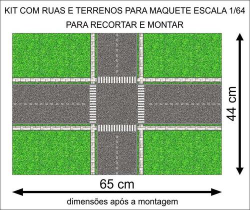 kit ruas e terrenos para maquete esc 1/64 envio por correio