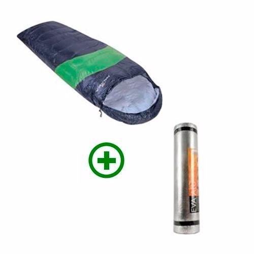 kit saco de dormir + isolante térmico nautika aluminizado