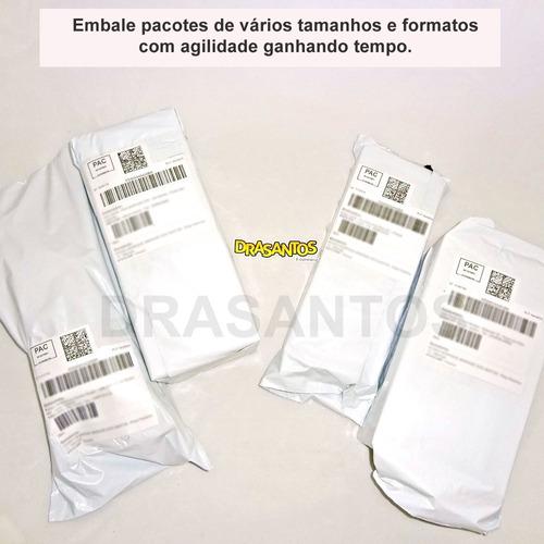 kit saco plástico de segurança/lacre 19x25 26x36 32x40 300un