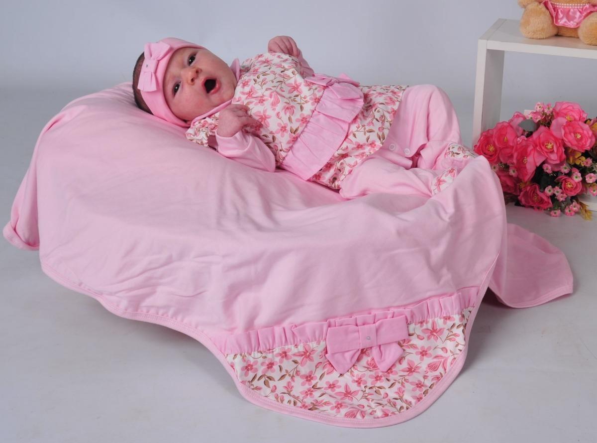 24d6981e0d kit saída de maternidade bebe rosa floral menina luxo. Carregando zoom.