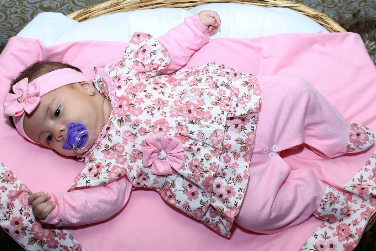 kit saída de maternidade   hospital rosa floral - menina. Carregando zoom. a916f5fa2c8