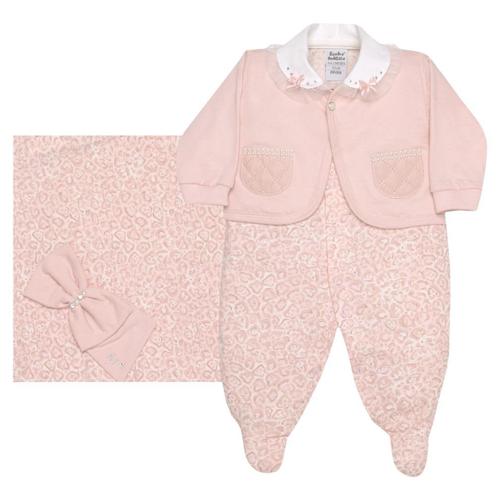 767761f73b kit saída de maternidade malha onça rosa sonho mágico. Carregando zoom.