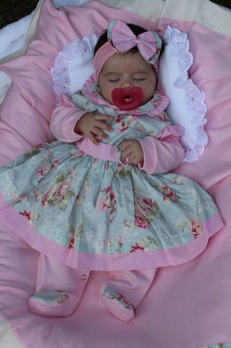 kit saida de maternidade menina charmosa 05 peças - rosa
