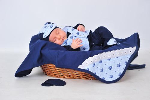 kit saída de maternidade menino coroa príncipe - bebe