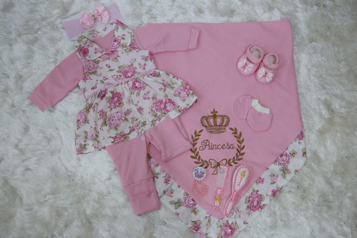 20953e3088 kit saída de maternidade para bebê menina rosa luxo +kit. Carregando zoom.