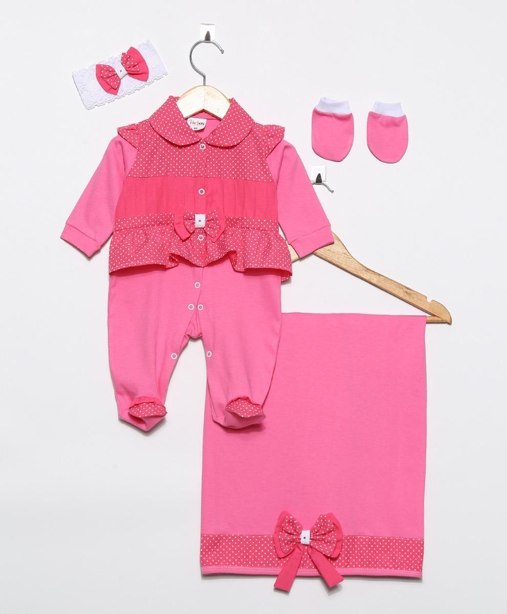 a3ae1ce0d5 kit saída de maternidade rosa pink menina luxo 4 peças. Carregando zoom.