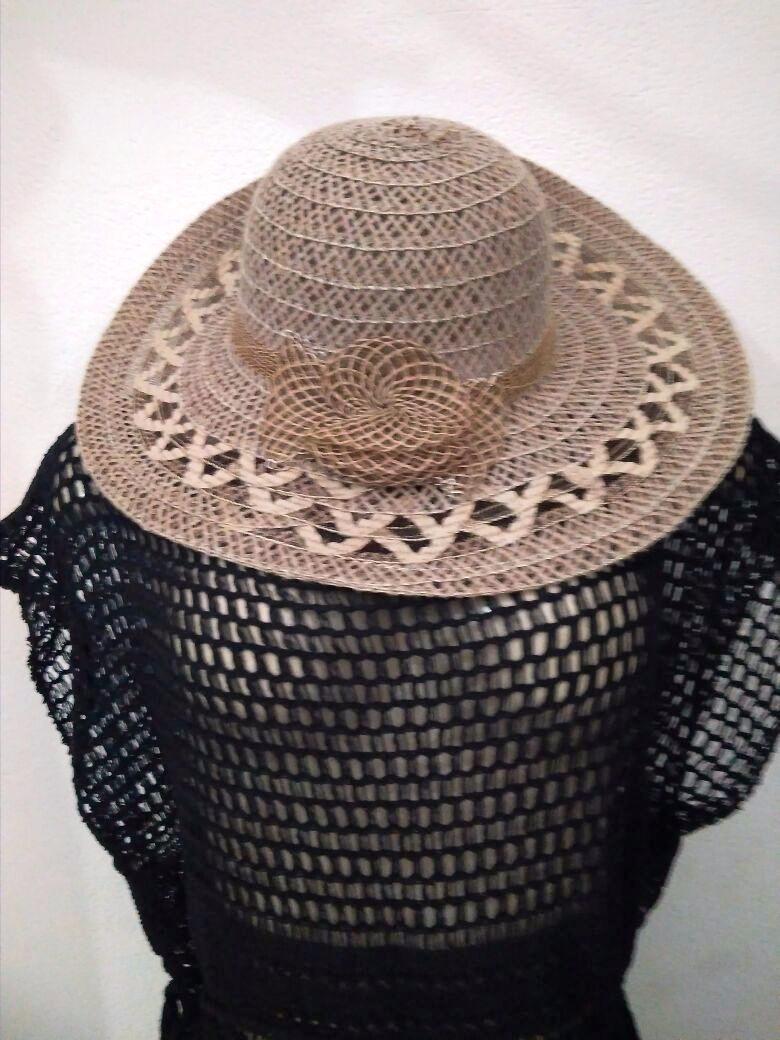 Kit Saída De Praia Croche Trico E Chapéu Plus Size Barato - R  59 60a3a85bc42