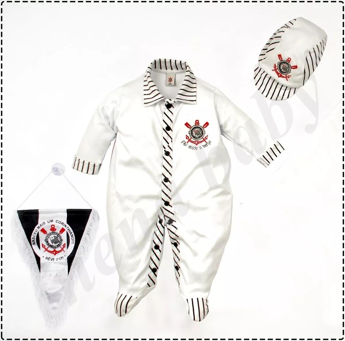 kit saída maternidade corinthians manta luxo meninos oficial. Carregando  zoom. a8e468d17e3a6
