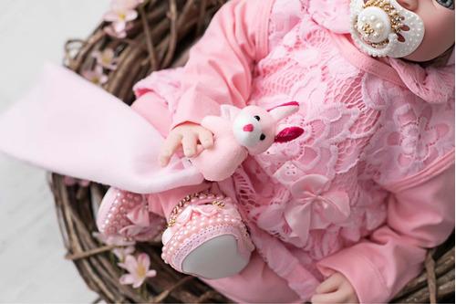 kit saída maternidade enxoval manta boina bebe renda luxo