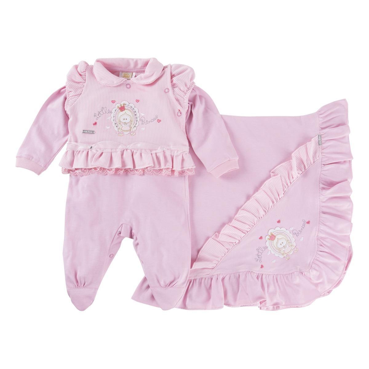 ddfaaf5056 kit saída maternidade menina din don luxo bordado princesa. Carregando zoom.