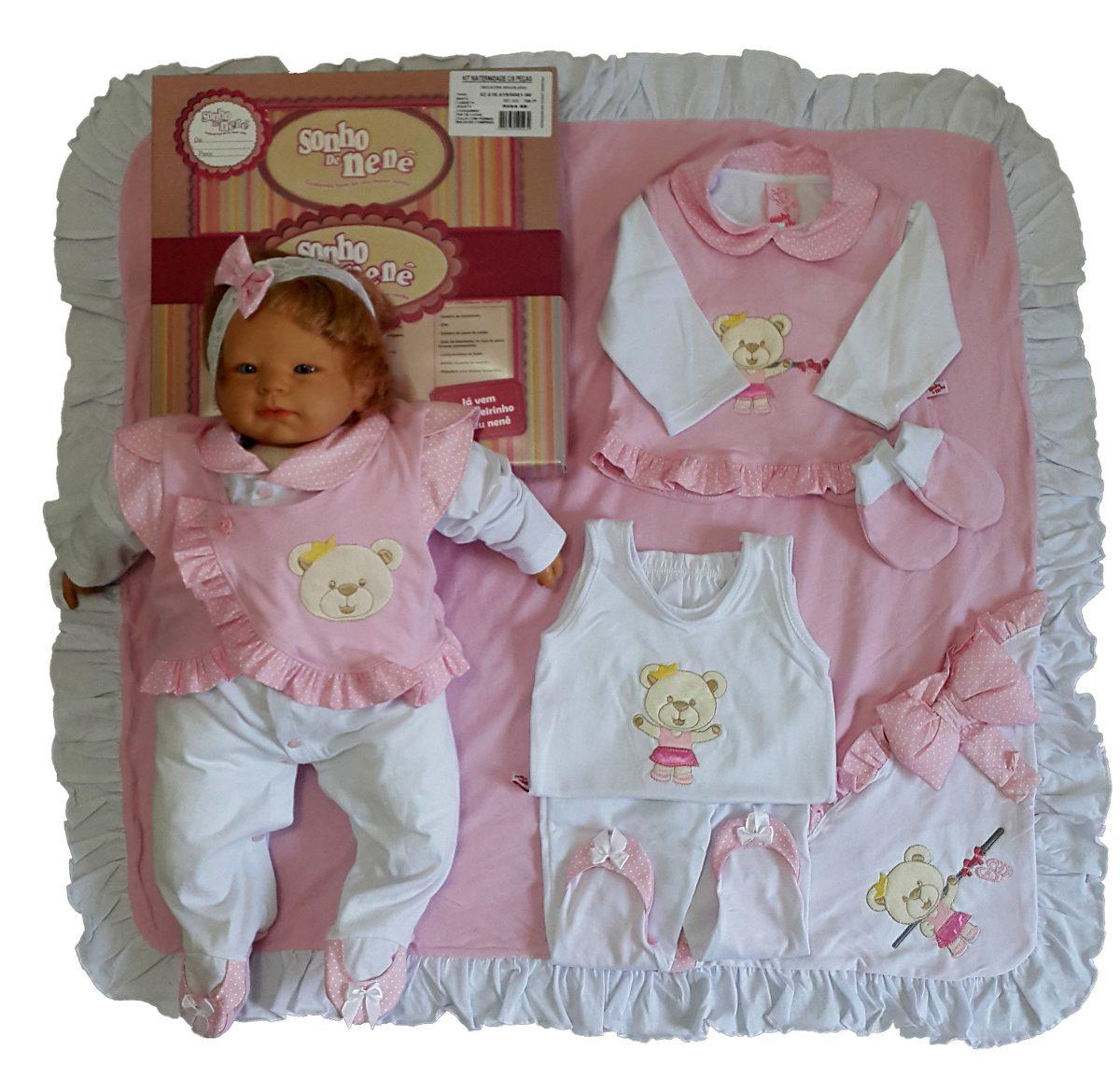 9e6835fddd535 kit saída maternidade menina rosa sonho de nenê. Carregando zoom.