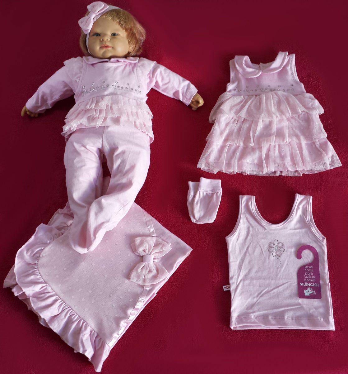 59d759995e2f4 kit saída maternidade menina sonho de nenê vermelho rosa. Carregando zoom.