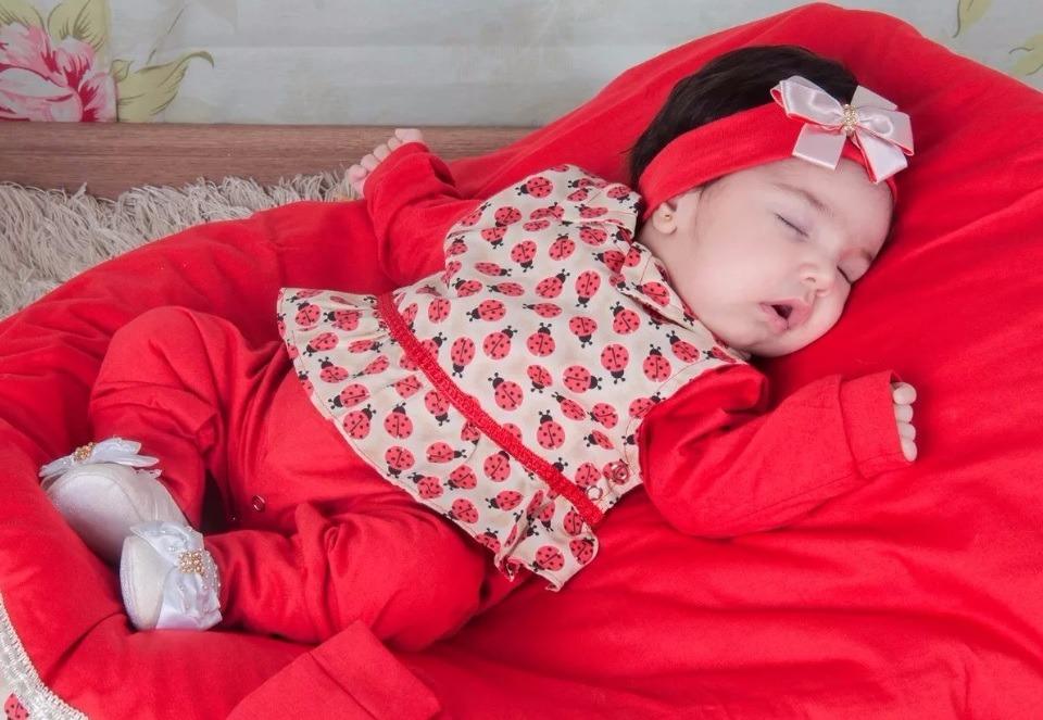 kit saída maternidade menina vermelho 4 peças - barato. Carregando zoom. dfe50b94b02