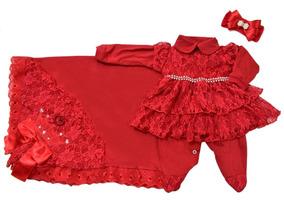d80171fb24ec Saída De Maternidade Rosa Mariah Pimenta - Roupas de Bebê no Mercado Livre  Brasil