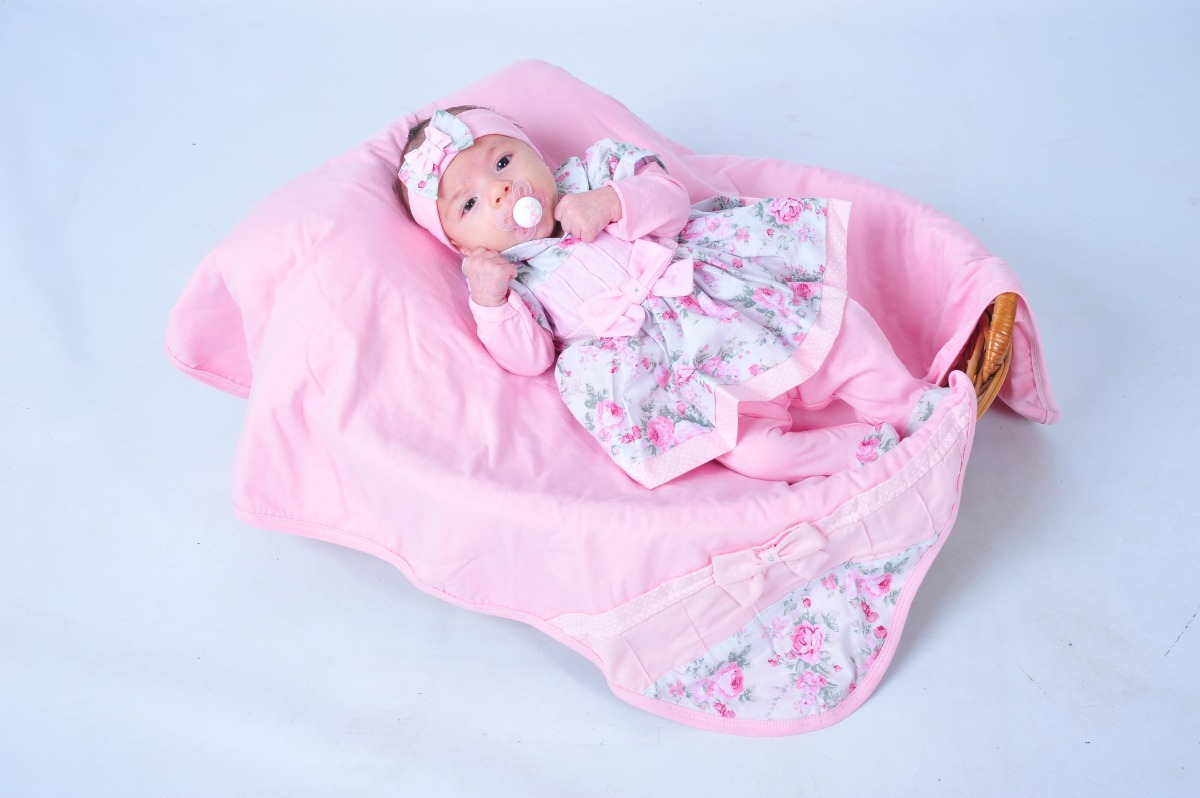 88607d0101 kit saída maternidade rosa menina luxo. Carregando zoom.